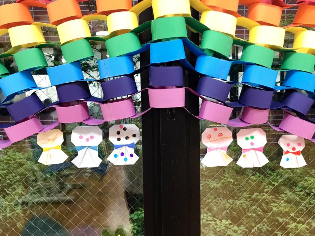 虹とてるてる坊主